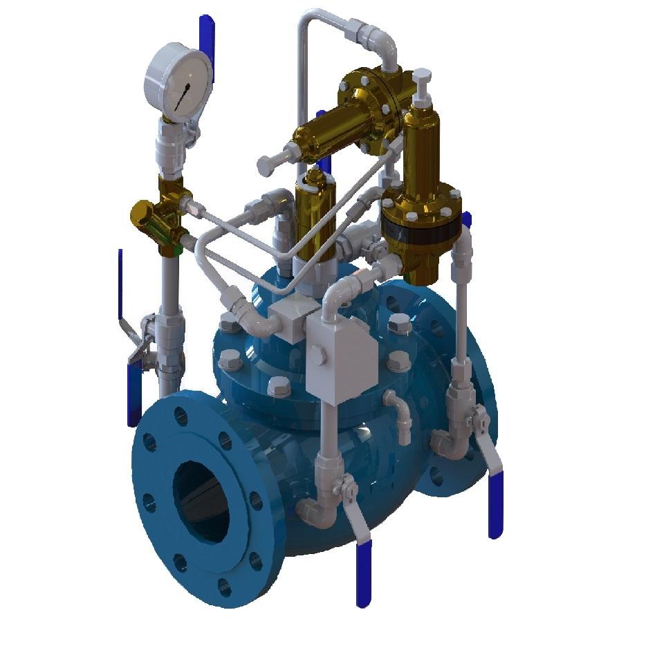 Valvola automatica a pistone limitatrice e controllo di - Portata e pressione acqua ...