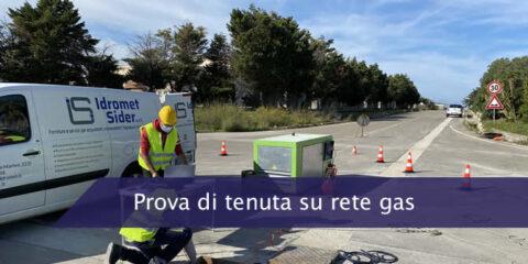 Prova di tenuta nuova rete gas