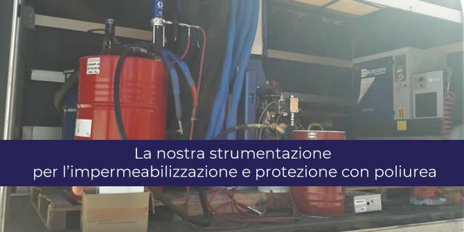 Impermeabilizzazione e protezione con poliurea