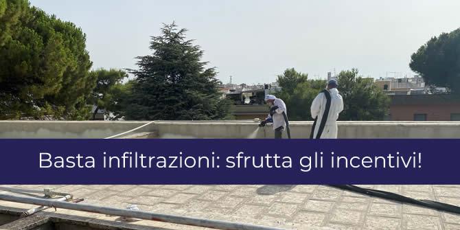 infiltrazioni balconi tetti e terrazzi incentivi impermeabilizzazione