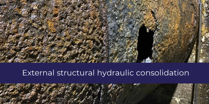 External structural hydraulic consolidation
