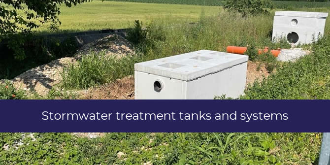 Concrete Stormwater treatment plants for run-off water disposal
