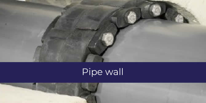 Pipe wall joint