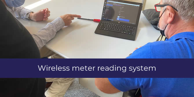 Wireless meter radio reading system