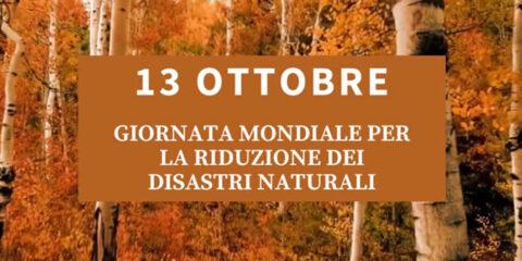Giornata mondiale per la riduzione dei disastri naturali
